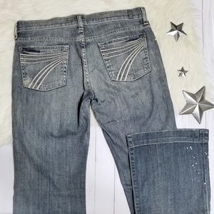 7 for all mankind Dojo flare jeans gray distressed